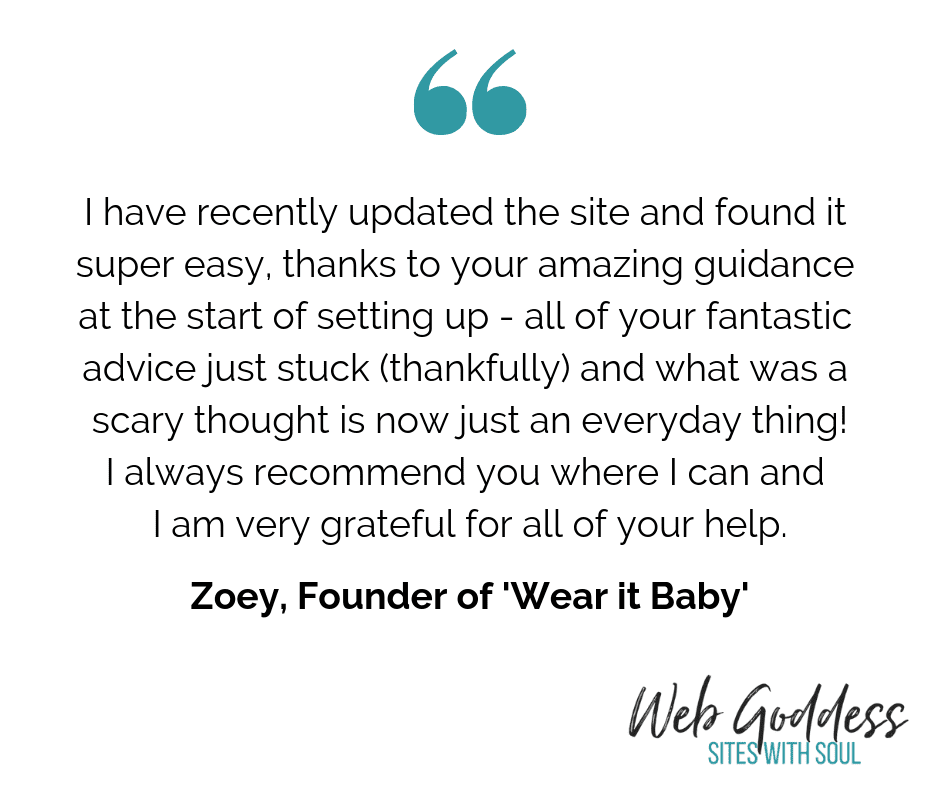 WG Testimonial - Wear it Baby