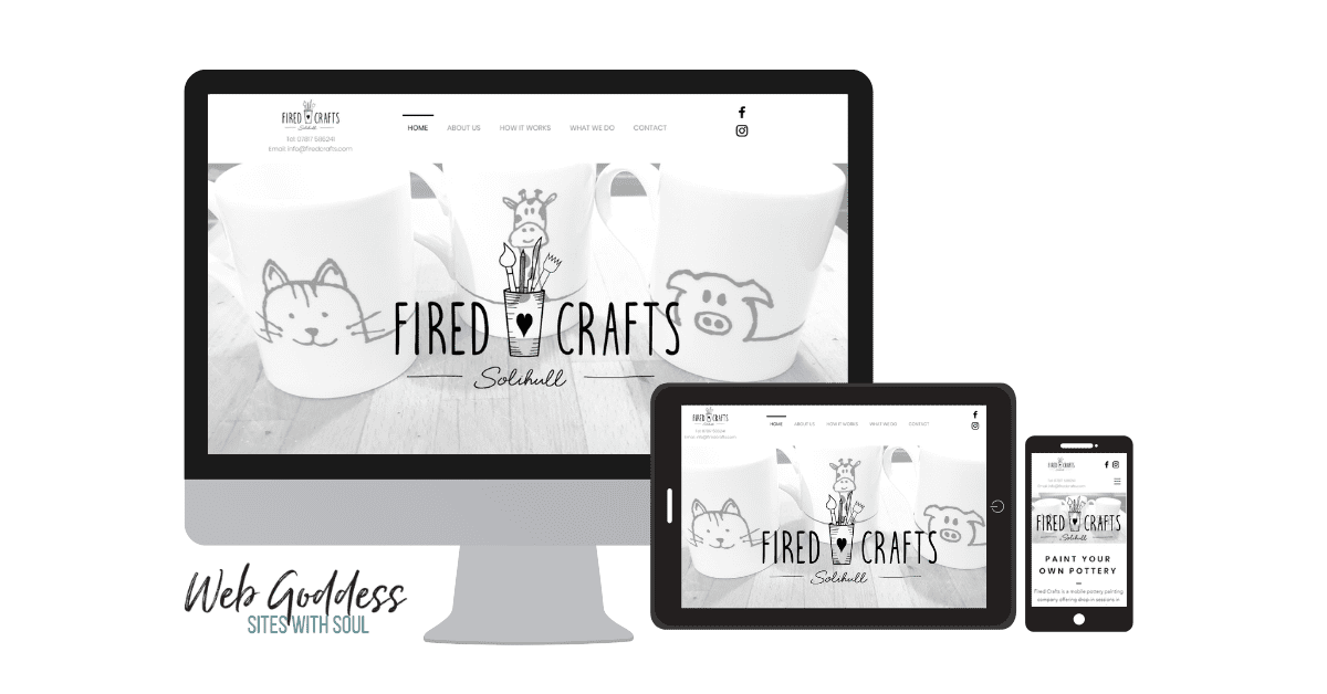 Fired Crafts - Wix Website
